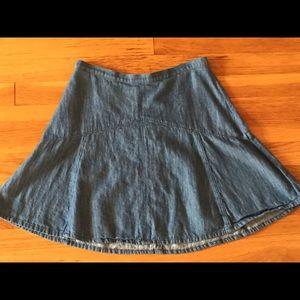 Madewell chambray skater skirt size 0